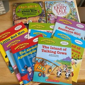 PUNCTUATION 10-BOOK SET FOR SPELLING AND READING